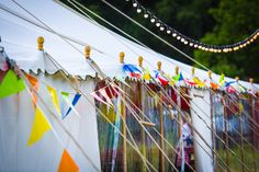 Festival and carnival style parties are great fun and easily achieved. Add plenty of colourful bunting and strings of festoon lights to the natural finials of one of our beautiful canvas pole tents and you have it - Simple. Party Organization, Party Fashion, Bunting, Event Planning, Festoon Lights, Carnival, How To Memorize Things, Make It Yourself, Tents