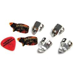 National Finger & Thumb Pick Set - 4 Finger & 2 Thumb - Tortoise - Large by National. $14.95. One of the most popular items at Ant Hill Music! These are really nice quality picks at a reasonable price from the name you know and trust.. NATIONAL.FeaturesIncludes 2 sets (6 picks total). (4) NP-1 National Metal Finger Picks and (2) Large NP-8 National Tortoise Thumb Picks. Everything is Brand New! PLUS we will include a FREE Ant Hill Music flatpick! (color and thickness may ...