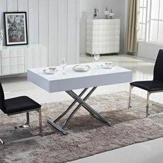 Table basse relevable extensible italienne MAGIC J en bois naturel ...