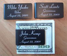 5 Personalized Money Clips Groomsman Best Man Usher Wedding Party Gift