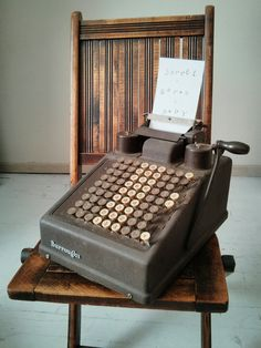 vintage adding machine by SPLENDIDANTIQUITIES on Etsy, $73.00