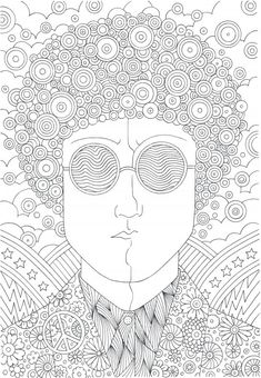 1960's Hippie Guy coloring page at Mom Books