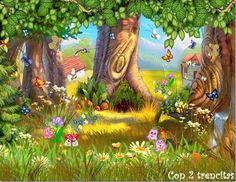 Forest Fairy's - Fantasy & Abstract Background Wallpapers on Desktop Nexus (Image Fairy Tale Forest, Fairy Tales, Cute Backgrounds, Abstract Backgrounds, Fantasy Landscape, Fantasy Art, Forest Mural, Landscape Background, Kawaii Wallpaper