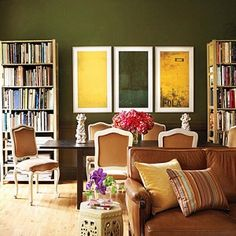 Strong, sophisticated, and timeless, olive green is the perfect color to incorporate in your décor. This fall, its established as one of the hot color trends of 2015..what?