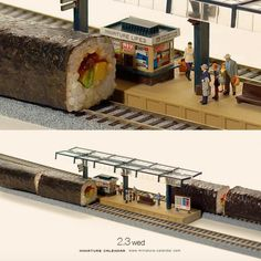 Bigger doesn't always mean better, as Japanese artist Tatsuya Tanaka proves with these tiny dioramas that he makes for his ongoing Miniature Calendar project. Amazing Drawings, Amazing Art, Awesome, Mark Rothko, Miniature Calendar, Miniature Photography, Tiny World, Human Art, People Art