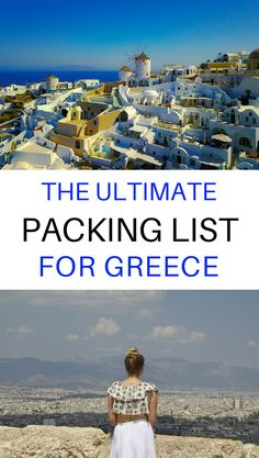 Not sure what to pack for Greece? Click through for the ultimate packing list for #Greece & the Greek Islands including what to wear and other travel essentials. ********* Greece Travel Packing Tips   Greece Packing List Ideas   Greece Packing List Products   Greece Packing List Summer   Greece Packing List Spring   Greece Packing List Vacations   Greece Packing List Capsule Wardrobe   Greece Santorini Outfits   Packing List European   Packing List for Europe   Packing List Greece Travel…