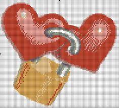 Cross Stitch Heart, Hand Art, C2c, Love And Marriage, Hama Beads, Plastic Canvas, Cross Stitching, Pixel Art, Cross Stitch Patterns