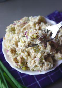Sałatka z tuńczykiem | Słodkie Gotowanie Krispie Treats, Rice Krispies, Cereal, Salads, Food And Drink, Breakfast, Desserts, Diet, Morning Coffee