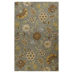 Anchor your living room seating group or define space in the den with this artfully hand-tufted wool rug, showcasing a traditional floral motif for garden-ch...