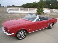 Ford : Mustang Convertible 1966 ford mustang convertible 200 i 6 with power top pony interior