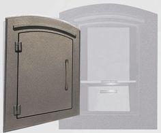Locking Column Mailbox Bronze (stucco column purchased seperately)