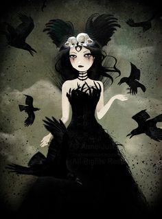 The Crow Queen by AnneJulieAubry.deviantart.com on @deviantART