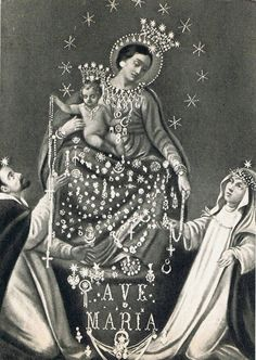 A vintage postcard of the Madonna del Rosario di Pompei, Italy. The shrine of Our Lady of the Rosary of Pompeii was built in the late 19th century as an act of repentance by a former satanist called Bartolo Longo.