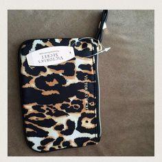 Leopard print wristlet Victoria's Secret wristlet. Price firm Victoria's Secret Accessories