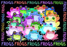 Frogs Painting - Frogs by Nick Gustafson