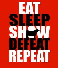 Livestock Showgirls  - Eat Sleep Defeat Tee, $19.99 (http://www.livestockshowgirls.com/eat-sleep-defeat-tee/)
