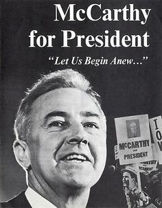"In 1968, the anti-war Eugene McCarthy and his ""children's crusade"" of young supporters nearly scored a victory in the New Hampshire Democratic Primary over incumbent President Lyndon Johnson. The close call contributed to Johnson's decision to discontinue his bid for re-election, and helped give a voice to Americans who had come to oppose the war in Vietnam."