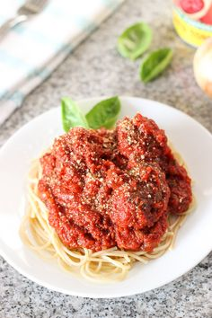 This homemade marinara sauce and meatballs recipe is packed full of Italian flavor, super adaptable, and simple to make!