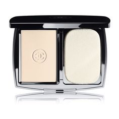 Chanel Beauty Double Perfection Lumière Long-Wear Flawless Sunscreen... found on Polyvore featuring beauty products, makeup, face makeup, face powder, beauty and faces