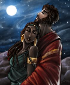 "CC: Moses and Tzipporah by MistyTang.deviantart.com on @deviantART - From Dreamworks' ""The Prince of Egypt"""