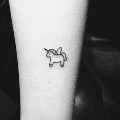 Small tiny tattoo unicorn #TattooIdeasSmall