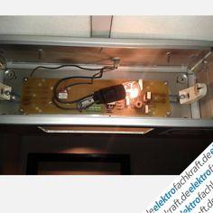 Zwei Bilder von der Elektrofachkraft Michael, die zeigen, dass es auch anders herum gehen kann. Also nicht von LS-Röhre auf LED sondern von LS-Röhre auf die gute alte Glühbirne. Und das in der Notbeleuchtung mit 24 Stunden Brenndauer am Tag. Das Ergebnis sieht man auf dem zweiten Foto.