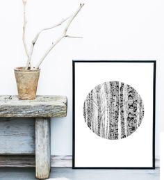 Minimalist Poster, Baum-Print, abstrakte Foto, skandinavischen Bäume, Kreis Print, Kunstdruck, skandinavische Print, graue Wand-Dekor von exileprinted auf Etsy https://www.etsy.com/de/listing/250727542/minimalist-poster-baum-print-abstrakte