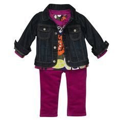 My daughter would look SO cute wearing this in the fall!  Carters clothes is my favorite ...