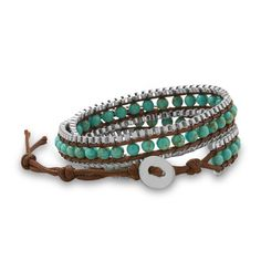 Double Wrap Turquoise Fashion Bracelet