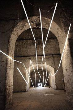 SDNA Cinetaxis @ Shunt Club, London - Neon installation