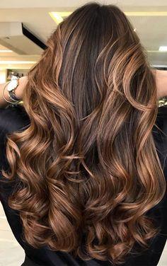 37 Brown Hair Colour Ideas And Hairstyles : chocolate caramel