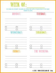 printable weekly calendars 2015