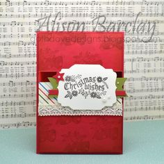 Gothdove Designs - Alison Barclay - Stampin' Up! Australia - Stampin' Up! Christmas Card - Cozy Christmas #stampinup #christmas #card #gothdovedesigns