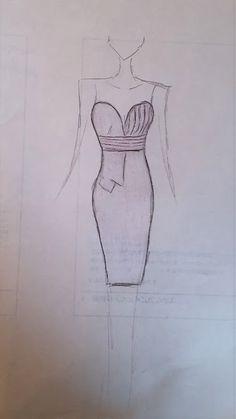 fashion sketch of one of my nikolaki fall 2014 dresses