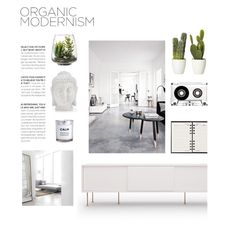 """""""ORGANIC"""" by hellodollface ❤ liked on Polyvore featuring interior, interiors, interior design, home, home decor, interior decorating, Louis Vuitton, Modloft, H&M and Threshold"""