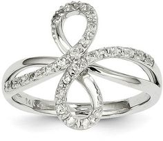 ApplesofGold.com - 14K White Gold and Diamond Infinity Ring Jewelry $625.00