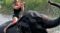 Ride an elephant. I did once when I was a little girl but I want to do it again.