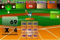 La mejor manera de aprender y de repasar las matemáticas es jugando a un divertido juego como este. Bebes acertar el resultado de la multiplicación para que tu bateador lance la pelota fuera del campo y si te equivocas cometerás un strike, solo puedes equivocarte tres veces. Aprende y diviértete jugando a un juego de béisbol.