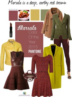 Pantone has announced their 2015 Color of the Year: Marsala. According to Pantone, Marsala is a deep and earthy red brown. Think of the Italian American dish Chicken Marsala and the deep red wine. This color will likely work best for warm skin tones - but if you have a cool skin tone and love it - wear it as a skirt or accessories.