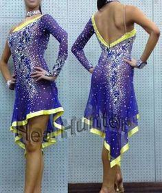 eBay blue yellow dress