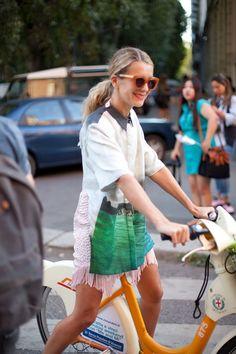 Milan Fashion Week bicycle