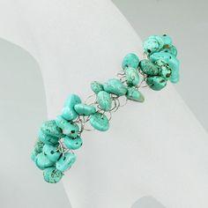 Chunky wiring turquoise bracelet handmade ani designs, $12.95