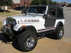 Jeep CJ7 Laredo White Left Side View