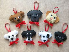 DOG or cat personalized keyring ornament or by CHIEN ou chat pe. DOG or cat personalized keyring ornament or by CHIEN ou chat personnalisé keyring ornement ou p Felt Ornaments Patterns, Dog Ornaments, Felt Patterns, Dog Crafts, Xmas Crafts, Felt Crafts, Felt Christmas Decorations, Felt Christmas Ornaments, Felt Dogs