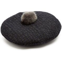 New Billy Prince of Wales-checked wool-blend beret Maison Michel J7m1SM