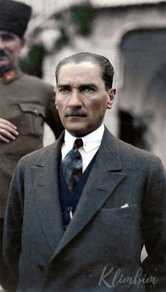 Turkish President Mustafa Kemal Atatürk - at his villa in Izmir during his wedding to Latife Kemal wallpaper hayvan Mustafa Kemal Atatürk The Legend Of Heroes, The Turk, Portraits, Great Leaders, Historical Pictures, Galaxy Wallpaper, Presidents, Handsome, History