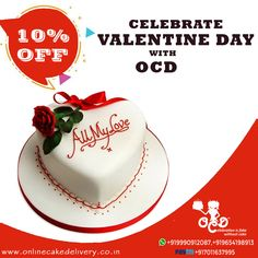 All My Love Vanilla is missing someone when you are apart. So, somehow with valentine's day cake delivery feeling warm inside you are close to heart. valentine cake delivery in Delhi, Best online cake delivery in Delhi ❤ Order cake in Delhi with OCD D Online Cake Delivery, Order Cake, Valentines Day Cakes, Ocd, Vanilla, My Love, Desserts, Tailgate Desserts, Deserts