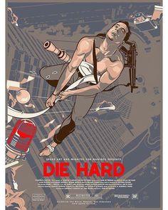 Die Hard Roxie SF Silkscreen Bruce Willis Movie Poster Vincent Aseo Spoke Art - Silkscreens Art - Ideas of Silkscreens Art Best Movie Posters, Cinema Posters, Movie Poster Art, Cool Posters, Art Posters, Bruce Willis, Spoke Art, Alternative Movie Posters, Love Movie