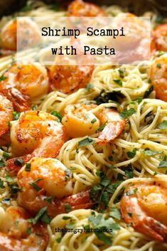 This recipe has all of the things I love: shrimp, butter, garlic, spice, lemon juice, pasta, and wine. It may look fancy, but it's much simpler to prepare than one might think. Fun Easy Recipes, Simply Recipes, Summer Recipes, Easy Meals, Healthy Recipes, Shrimp Scampi Pasta, Black Food, Food Blogs, Appetizers For Party