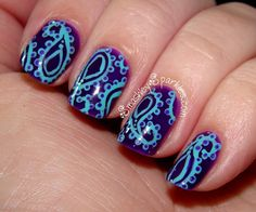 Today's Daily Nail Art is this paisley design by smashleysparkles. Funky Nails, Cute Nails, Pretty Nails, Beautiful Nail Art, Gorgeous Nails, Amazing Nails, Nail Effects, Nail Patterns, Pattern Nails